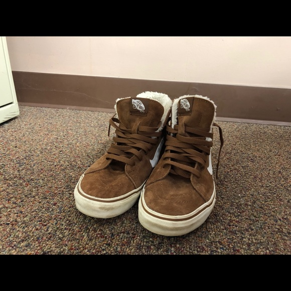 Vans Shoes | Vans Tan Suede Fur Lined